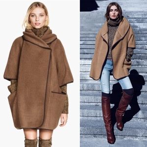 H&M wool cape wrap coat